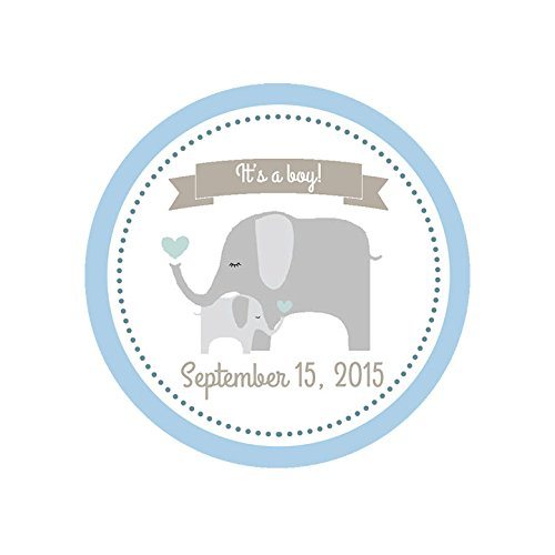 CUSTOM It's A Boy Elephant Baby Shower Shower Stickers, Shower Favor (Homemade Baby Shower Favors)