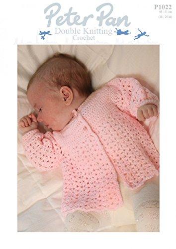 9ca72640a94d Peter Pan Baby Matinee Coat Crochet Pattern 1022 DK  Amazon.co.uk ...