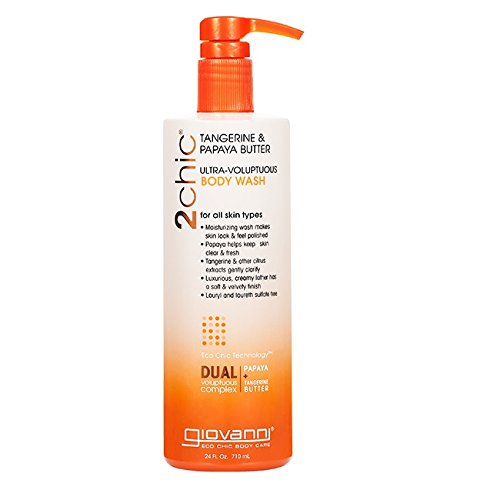 Giovanni 2chic Body Wash with Tangerine and Papaya Butter, 24 Fluid Ounce