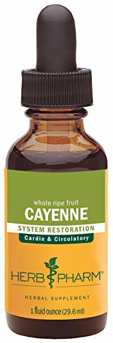 Herb Pharm Certified Organic Cayenne Extract for Cardiovascular and Circulatory Support - 1 Ounce