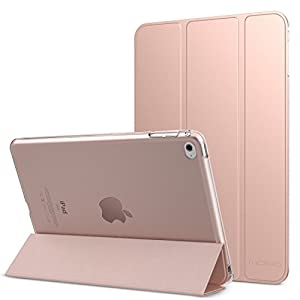 MoKo iPad Mini 4 Case - Slim Lightweight Shell Stand Cover with Translucent Frosted Back Protector for Apple iPad Mini 4 7.9 inch 2015 Release Tablet, Rose GOLD (with Auto Wake/Sleep)