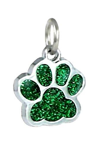 J&M Dangle Enamel Green Cat/Dog Paw Charm Bead for Charms Bracelets
