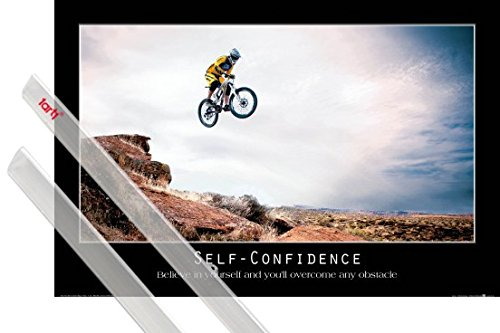 Poster + Hanger: Motivational Self-Confidence, Believe In Yourself And You ll Overcome Any Obstacle