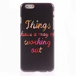 QJM Working Out Design Hard Case for iPhone 6 Plus