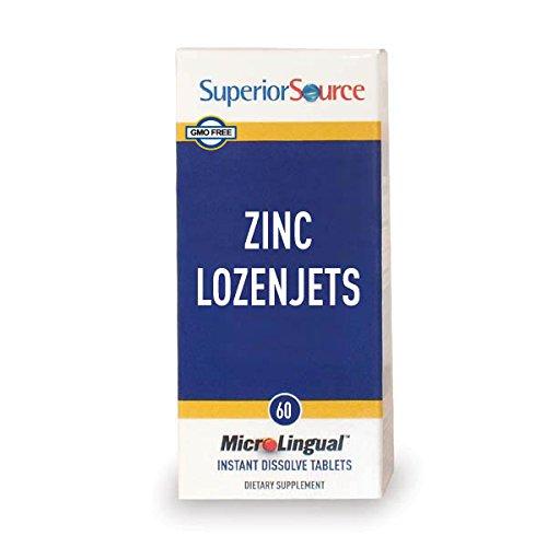 Superior Source Zinc Lozenjets Nutritional Supplements, 60 Count