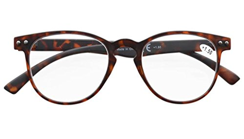 886fd8ac442 Eyekepper Round Full Coverage Ultrathin Flex Frame Reading Glasses Tortoise  +1.50  Amazon.co.uk  Health   Personal Care