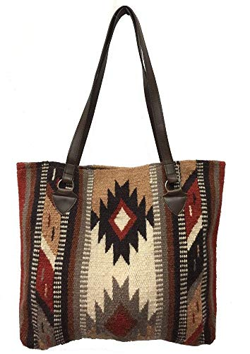 Wool Handbag Purse - Maya Ladies Tote Purse Handwoven Southwestern Wool Handbag Zapotec Design B