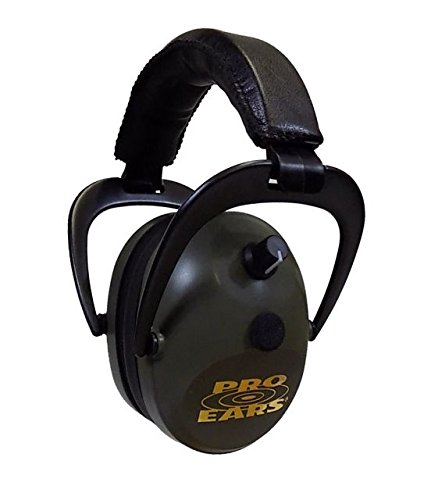 Pro Ears Gold II 26 - PEG2SMG - Electronic Hearing Protection & Amplification - Shooting Earmuff - NRR 26 - Electronic Hearing Protector Ear Muffs, Green by Pro Ears