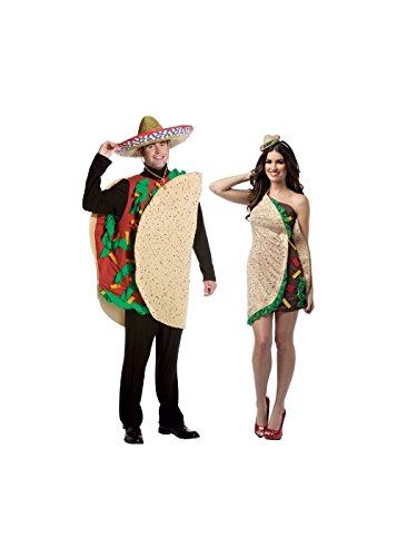 Taco Dress Womens Costumes (Couple Taco Costume Kit)