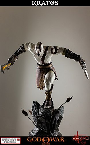 Gaming Heads God Of War  Lunging Kratos Statue  1 4 Scale