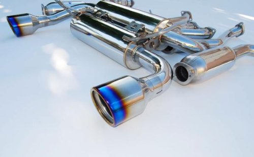 Invidia HS09N7ZGID Gemini Cat-Back Exhaust System with Titanium Rolled Tip for Nissan 370Z ()