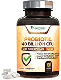 Probiotic 40 Billion CFU. #1 Rated Most CFU's Guaranteed Potency until Expiration. Patented Delay Release, Prebiotic Supplement with Acidophilus. Best Probiotics for Women & Men - 120 Capsules