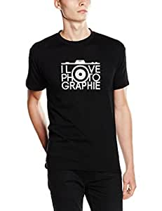 Shirtzshop Camiseta I Love photographie fotógrafo Negro negro Talla:S