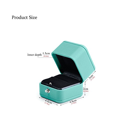 Oirlv Velvet Ring Box Jewelry Gift Case Ring Bearer Box Wedding,Propose by Oirlv (Image #6)