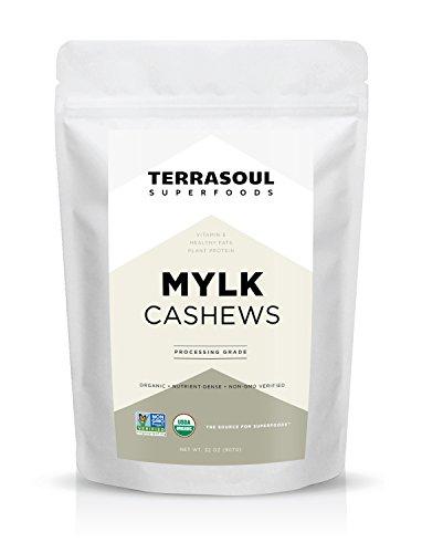 Terrasoul Superfoods Raw Organic Cashews (Mylk Grade), 2 Pounds
