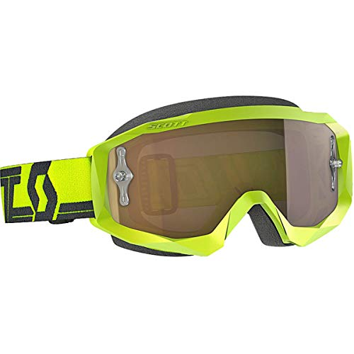 Scott Hustle Adult X Off-Road Motorcycle Goggles - Yellow/Black/Gold Chrome/One ()