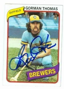 Autographed Brewers - Gorman Thomas autographed baseball card (Milwaukee Brewers) 1980 Topps #623 - Autographed Baseball Cards