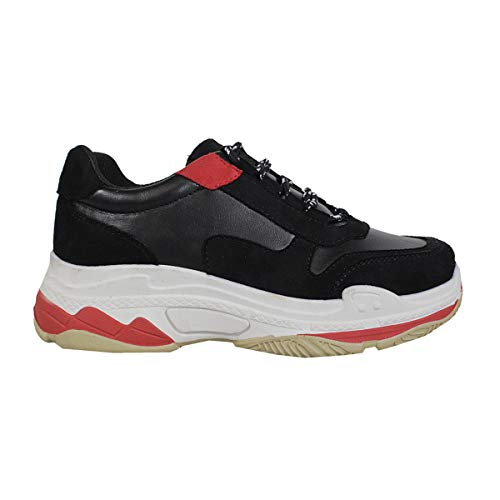 Chunky Dad Trendy Fashion Triple Heavy Yoki Trainers Tubuler Black Sole Womens Sneaker TpExAA