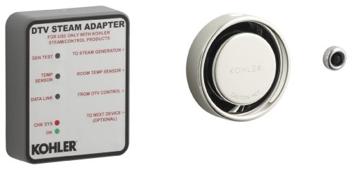 Kohler Generator Bathroom (KOHLER K-1737-SN Steam Adapter Kit, Vibrant Polished Nickel)
