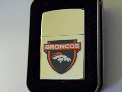 Denver Nfl Broncos Zippo Lighter (Zippo Lighter High Polish Chrome 2005 (Standard, denver Broncos))