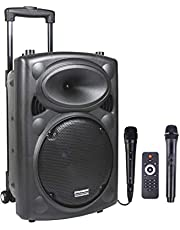 DYNASONIC DYNAPRO Audio Party | Battery Powered Portable Bluetooth Party Speaker System & Karaoke Centre with Radio FM, USB/SD READER, Microphone