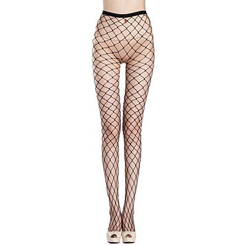 - KACY High Waist Tight Stockings Net Big Cross Fishnet Women Seamless Nylon Large MeshPantyhose Hot Chic Vintage Sexy Black