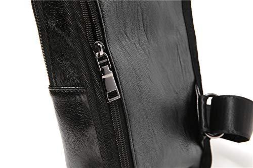 Multifonction Minisu Hommes Pour En Pu Cuir Mode noir Ancien La Bandoulière Dos À Sac CxgFC0q