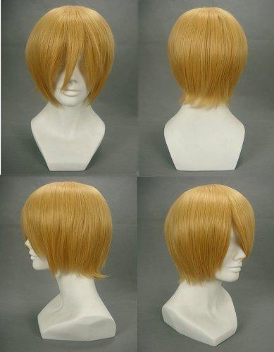 COSPLAZA Hetalia Switzerland Short Golden Male Cosplay Wig + Free Net