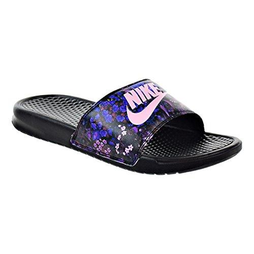 108bd4295333c5 NIKE Benassi JDI Print Women s Sandals Black Prism Pink - Import It All