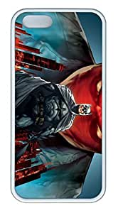 iPhone 5S Case, iPhone 5S Cases - Trendy Scratch Protection Rubber Case for iPhone 5/5s Batman Under The Red Hood Thin Fit White Soft Rubber Case for iPhone 5/5S