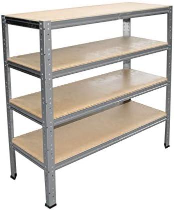 Shelfplaza ® Home HDF Floor Complete Set for Socket Shelves 100x50 CM in Galvanised