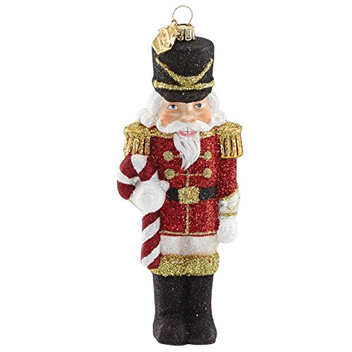 Lenox Holiday Figurals - Reed & Barton Jingle All The Way Nutcracker with Candy Cane Figural Ornament