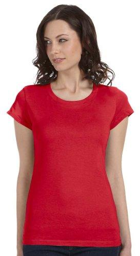 Bella Women's Kimberley Sheer Rib Longer-Length T-Shirt B8701, X-Large, Red
