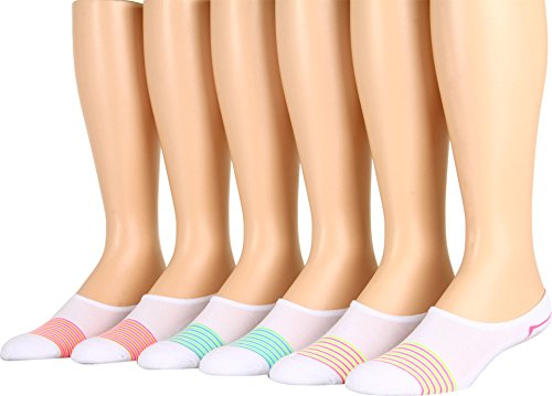Converse Women's Cut-for-Chucks 6-Pair Pack Multi Stripes Socks 4-10 Women's Shoe