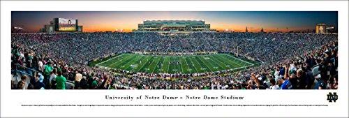 Football Panoramic Print (Notre Dame Football - Unframed Blakeway Panoramas College Football Print)
