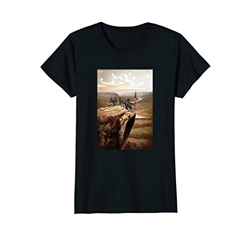 Womens Union Soldiers On Lookout Mountain - Civil War T-Shirt Medium Black Civil War Clothing Women