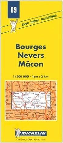 Amazon Fr Carte Routiere Bourges Nevers Macon 69 1 200000 Anglais De Carte Michelin 7 Mai 1980 Livres