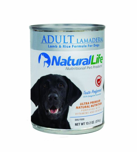Natural Life Pet Products Adult Lamaderm, 13.2-Ounce Cans (Pack of 12)