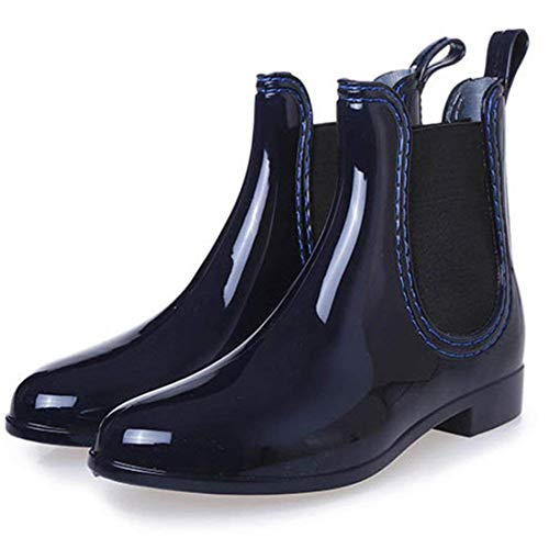 eleganceoo Boys Girls Waterproof Lace-Up Ankle Boots