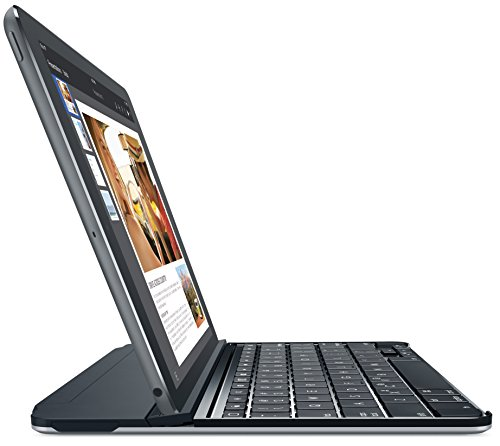Logitech Ultrathin Magnetic Clip-On Keyboard Cover for iPad Air 2, Space Gray (920-006523) by Logitech