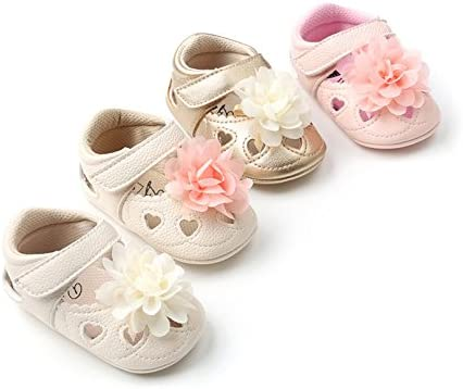 CoKate Infant Baby Boy Girl Moccasins Hollow Out Bowknot Sandals Sneakers for 0-18 Month
