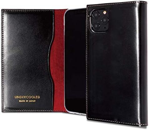 UNDERCOOLED アンダークールド iPhone11 Pro Max プレミアムレザーケース 手帳型 本革 (iPhone 11 Pro Max, ブラック)