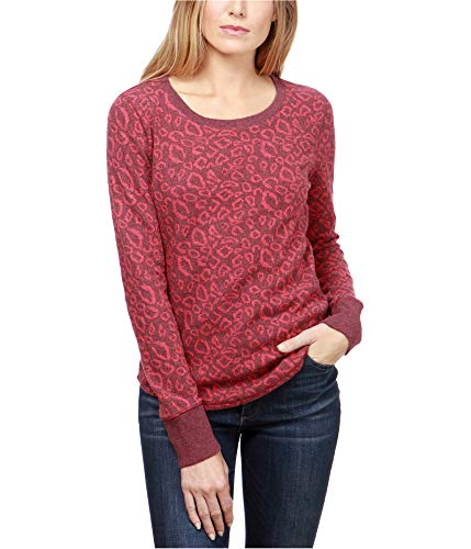 - Lucky Brand Women's Cheetah Print Pullover Red Multi Small