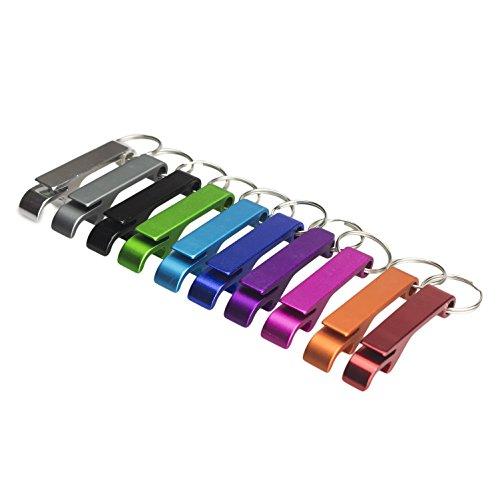 Swatom Classic Solid Aluminum Bottle Opener Keychain, Pocket Beer Bottle Opener, 100 Piece