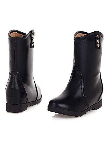 Plataforma Y De A Casual Oficina La us6 Mujer Semicuero Cn36 Uk4 Cn39 Eu39 negro Moda Brown Trabajo Comfort Zapatos Black Uk6 us8 Eu36 Marrón Exterior Xzz Botas Px5Ywtqn