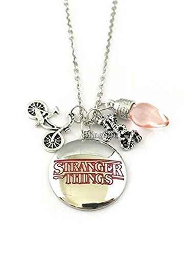 Stranger Things TV Series Pendant Necklace With Charms