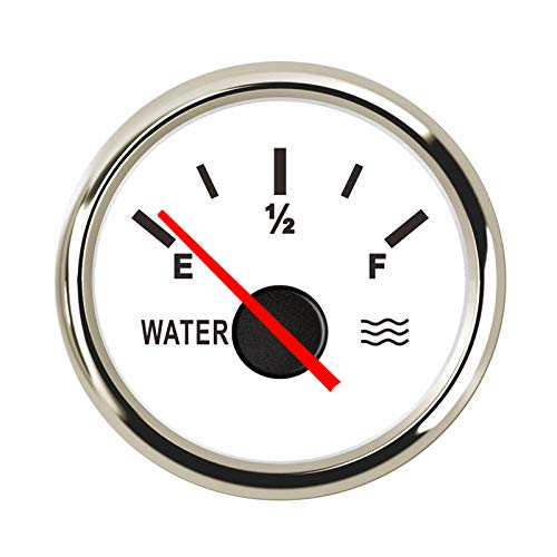 52mm Car Boat Water Level Gauge Indicator Gauge 0-190ohm Water Liquid Level Gauge Full Empty Indicator Pointer 9-32V by CT-CARID