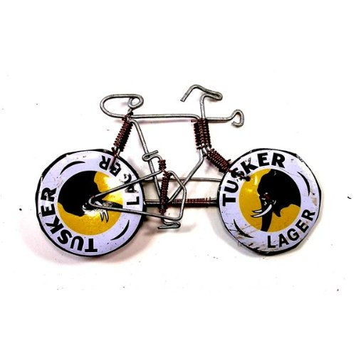 (Global Crafts Wire Bicycle Pin with Tusker Wheels - The Takataka Collection)