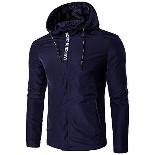 Los hombres chaquetas personalidad ocio hombres incluso cap chaqueta chaqueta casual, Marina ,4XL