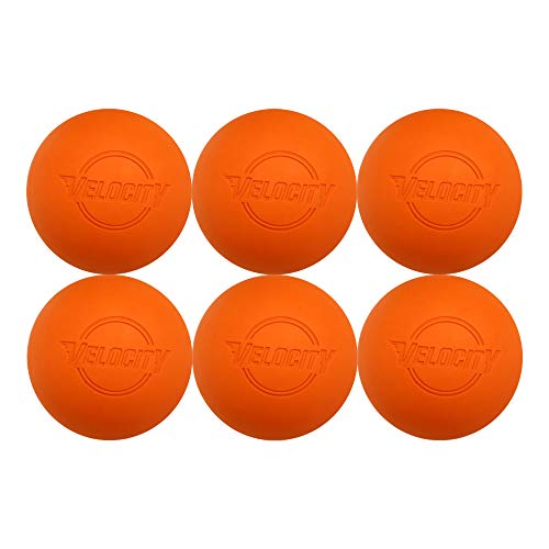 Velocity 60 Lacrosse Balls. Color: Orange